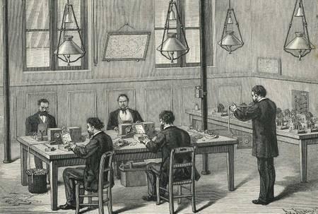 Baudot Telegraph Operators, 1890