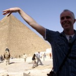 Dodgy looking bloke with pyramid