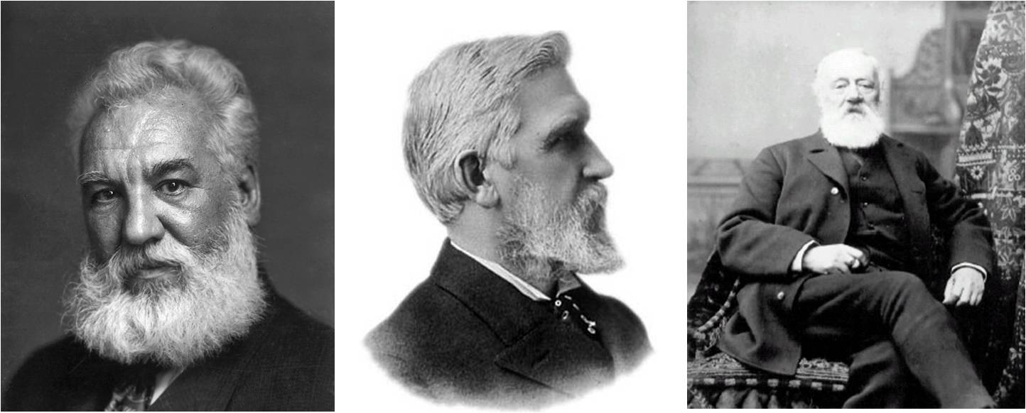 Alexander Graham Bell, Elisha Gray and Antonio Meucci